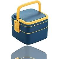 Bento Box Boîte à déjeuner anti-fuite carrée double couche Design Bento Box pour enfants et adultes Boîte à repas pour…