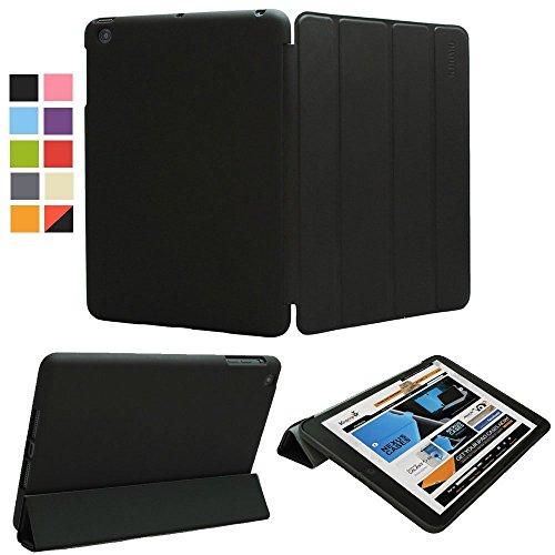 KHOMO Funda iPad Mini 1, 2, 3 - Carcasa Negra Ultra Delgada con Smart Cover Negro y Soporte para Apple iPad Mini, Mini 2 Retina, Mini 3 - Dual Black