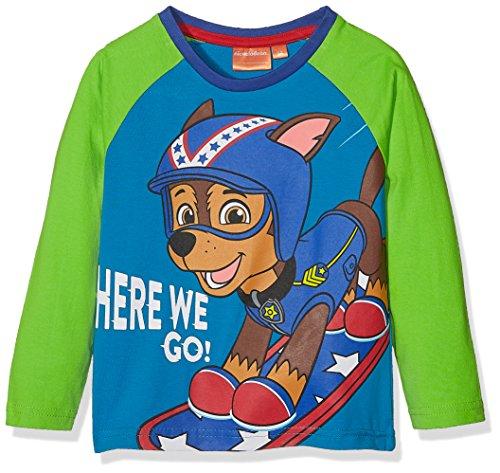 Nickelodeon paw patrol here we go t-shirt bambino, blu (blue 18-4537tc) 3-4 anni