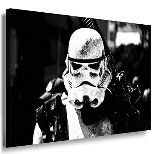 Star Wars Stormtrooper Leinwandbild LaraArt Bilder Schwarz-Weiss Wandbild 70 x 50 cm