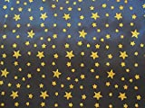 SATIN Stoff Glitzer Sternenhimmel dunkelblau Sterne