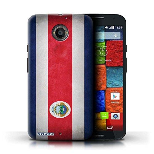 Kobalt® Imprimé Etui / Coque pour Motorola Moto X (2014) / Iran conception / Série Drapeau Costa Rica