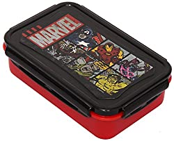 Marvel Avengers Plastic Lunch Box Set, 3-Pieces, Multicolour (HMLILB 73274-AV)