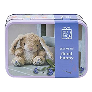 Apples to Pears Sew Me Up Floral Bunny Rabbit Sewing Kit In A Tin