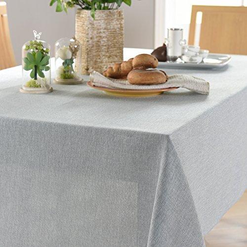 WFLJL Nappe Style européen des couleurs pures des tissus de coton serviettes de toilette petit frais Table Basse rectangulaire gris 135*220cm