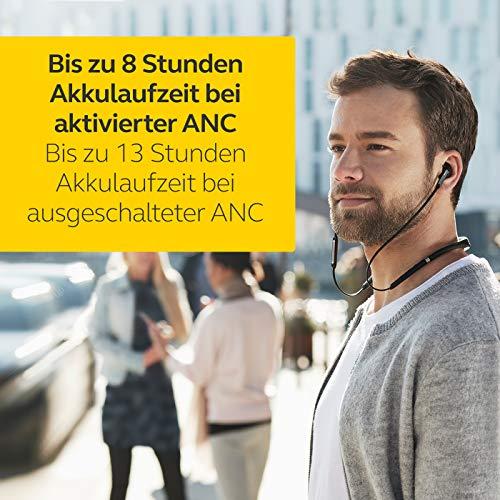 Jabra Elite 65e Wireless Stereo ANC in-Ear-Kopfhörer (Bluetooth, professionelles Active Noise Cancellation, Nackenbügel, Sprachsteuerung für Alexa, Siri und Google Assistant) kupfer schwarz - 4