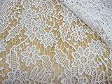 Spitze, Baumwollstoff, off white, Blumenmuster, Leicht,
