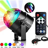 Stage Party Light Laser DJ Lighting Disco Ball Light Strobe Light with Remote Control, Sound Activated Bar Lamp for Birthday Home Room Dance KTV Wedding Show Pub (7 Colors, UK Plug)