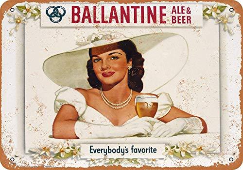 Laurbri Ballantine Ale & Beer Blechschilder Plakette Poster aus Metall Warnschild Eisenblech Malerei Schlafzimmer Schule Wand Aluminium Kunst Dekor Bar Café