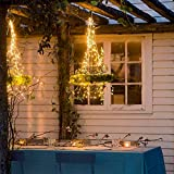 LE 20m 200 LED Copper Wire Lights, IP65 Waterproof Plug in Fairy Lights, Warm White Decorative String Lights for Party, Wedding, Garden and More Bild 2
