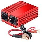 reVolt Strom Umwandler: Kfz-Spannungswandler 700 W, 2X 230 V AC, 5 V USB, Peak 1400 W (Sinus Spannungswandler)