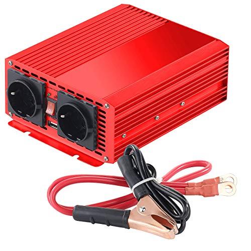 reVolt Stromwandler: Kfz-Spannungswandler 700 W, 2X 230 V AC, 5 V USB, Peak 1400 W (Sinus Spannungswandler)