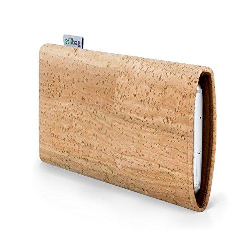 stilbag Housse de téléphone Portable Vigo pour Sony Xperia M4 Aqua | Etui pour Smartphone Fabriqué en Allemagne | Matériau de liège Naturel, Feutre Laine Marron