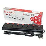 #4: KableNet 3M Power Strip Extension Cord 6 Socket with Individual on/off Switches