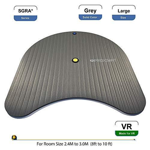 ProxiMat SGRA Sicherheitsmatte für HTC Vive, Oculus Rift, Playstation VR PSVR, TPCast, DisplayLink, Grau (Stand Up-video-spiel)