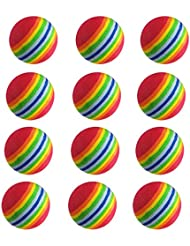 crestgolf Rainbow, bola de práctica de espuma EVA Interior Entrenamiento Pelotas de golf, pack de 40