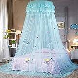 Somedays Moskitonetz, Infreecs Fliegennetz Mückennetz Rund Moskitonetz Baldachin Moskito Netz Insektennetz Insekten Schutz Vorhänge für Einzel oder - Doppelbetten Indoor or Outdoor (Blau)