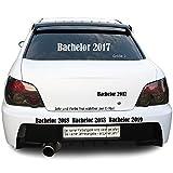 Sunnywall Bachelor 2016 2017 2018 Autotattoo Heckscheibe Aufkleber Größe: Größe 1