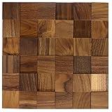 3D pannello da parete vero legno noce Potere / stuoia (300 x 300 mm) WODEWA legno pannelli da parete in legno