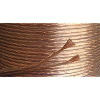 Electrosmart - Juego de cable para altavoces (50m, dimensiones interiores 2 x 1,5mm, dimensiones exteriores 6,5 x 3,1mm, 2 x 130 hilos)