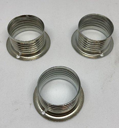 E14 Schraubring 3 Stück Kunststoff Schwarz für Lampen-Fassung Lampenschirm G9