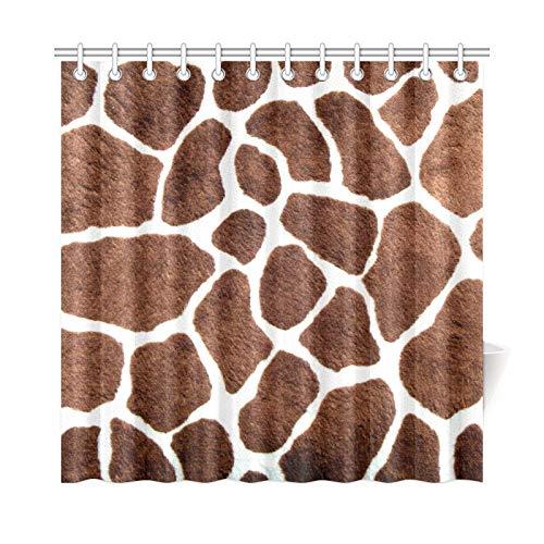 JOCHUAN Wohnkultur Bad Vorhang Giraffe Flecken Polyester Wasserdicht Duschvorhang Für Badezimmer, 72X72 Zoll Duschvorhang Haken Enthalten