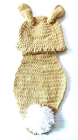 Réf620 BB.186 - Déguisement Bébé Enfant Fille Garçon - Cape + Bonnet Lapin - Crochet Fait Main - Cadeaux Props Photos de Naissance