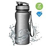 Borraccia sportiva Omorc 567gram/600ML acqua infusione bottiglia di acqua Tritan senza BPA in plastica verde, ideale per palestra, yoga, bottiglie, ciclismo, corsa, per lavorare, viaggiare, atleta, tennis, ufficio