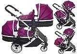 Kinder Kargo Duellette 21Combi Travel System Kinderwagen Doppelter Kinderwagen