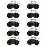 Cosanter 10 X Noir Masque de Voyage Anti Fatigué Masques de Sommeil Anti-lumière Bandeau de Nuit pour Dormir Repos