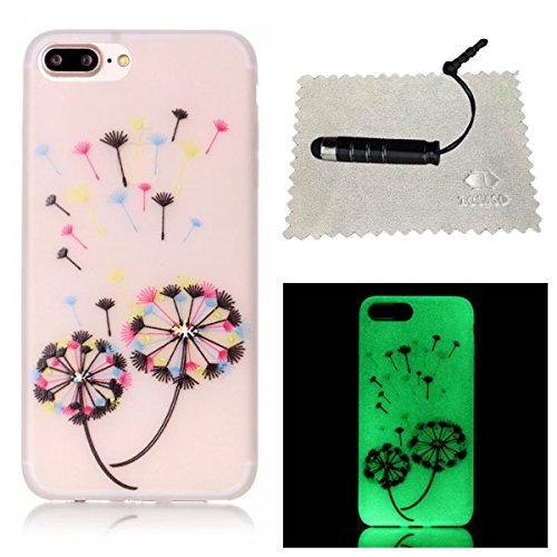 TOCASO Copertura di Cover in TPU Case per iPhone 6 / 6S Custodia Silicone Nottilucenti, Flip cover Ultra Sottile Shock-Absorption shell protettivi Bumper Covers Alto Morbido Crystal Clear Gel Sottile Il Dente di Leone Colorato