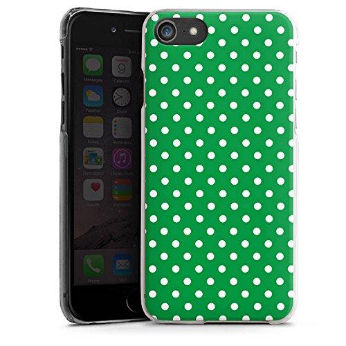 Apple iPhone X Silikon Hülle Case Schutzhülle Muster Polka Punkte Grün Hard Case transparent