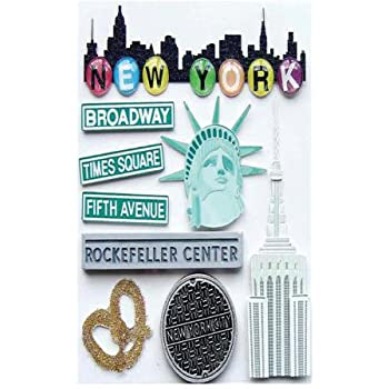 New York NYC 3D Gel Labels Stickers for Craft and Decoration RCNY7324