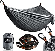 NATUREFUN Hamaca Ultraligera para Camping| 300kg de Capacidad de Carga, Estilo paracaídas de Nylon, Transpirab