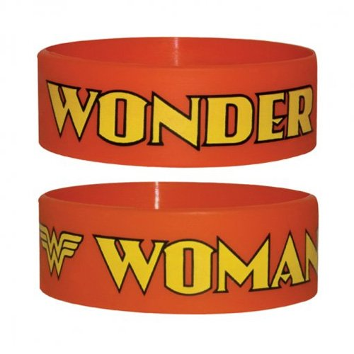 Wonder Woman Logo Rubber Wristband x 1