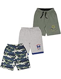 MIDAAS Boy's Cotton Shorts - Combo Pack of 3