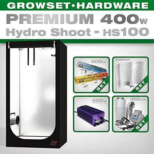 Hydro Shoot HS100 Grow 400 W Premium Kit