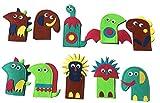 10pcs Dinosauro Burattini a Dito, Animali Marionette da Dito di Set, Storie del Bambino Helper, Didattica Giocattolo Regalo Bambini Burattini e Teatrini (multicolore)