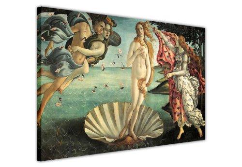"""Die Geburt der Venus Gemälde von Sandro Botticelli auf Leinwand, Bilder Foto Prints Raum Dekoration Home Décor Classic Fotos Ölgemälde, Canvas Holz, 9- A0-40\"""" X 30\"""" (101CM X 76CM)"""