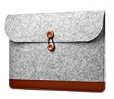 Bronze Times(TM) 15 Inch Macbook Air Sleeve Bag,Lightweight Laptop Case,Grey