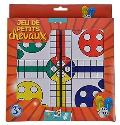 Mercier Toys- Jeu de Petits Chevaux de Voyage, 50571, Multicolore
