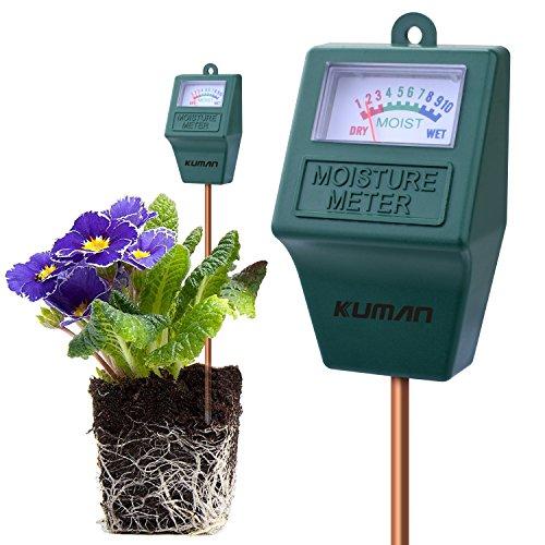 Kuman S10 Sensor de Humedad del Suelo Meter, higrómetro Suelo Monitor de Agua para el jardín, Granja...