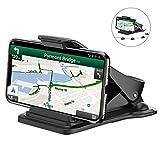 Bovon Support Téléphone Voiture, Support Smartphone Voiture Fixation sur Tableau de Bord avec 5 Clips de Câble, GPS Stand pour Téléphone Mobile (Noir)