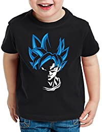 style3 Super Goku Blue God Mode T-Shirt pour Enfants