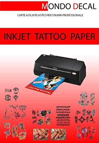 TRANSFER für TATUAGGI TEMPORANEI - TEMPORARY TATTOO TRANSFER PAPER, 3 SET A4 Drucker INKJET