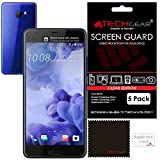 [Pack of 5] TECHGEAR® HTC U Ultra CLEAR LCD Screen Protector Guard Covers with Cleaning Cloth & Application Card (5x Ultra Clear Edition)