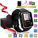 Bluetooth Smartwatch, Orologio Intelligente, Mini Smartwatch con fotocamera Smart Watch con SIM Card Watch Pedometro Tracker Guarda Sport Bracciale per Android Huawei Samsung