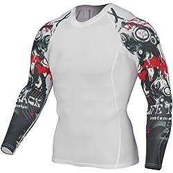 YiJee Manga Larga Tops T-Shirts Formación Aptitud Camiseta Secado Rápido Deportiva Compresión para Hombre como la Imagen13 L