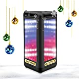 Milool Tragbarer LED-Licht Visual Bluetooth Lautsprecher Indoor Outdoor Portable Sport Speaker mit Subwoofer, Mikrofon, Magic Spiegel,Bass für Handys,iPhone,usw.