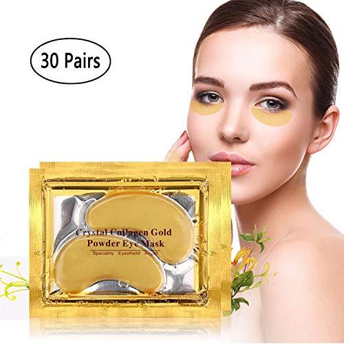 Nopson Crystal 24K Gold Powder gel Collagen Eye Mask Gold Eye Mask 30paia